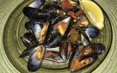 Fehérboros fokhagymás feketekagyló leves recept